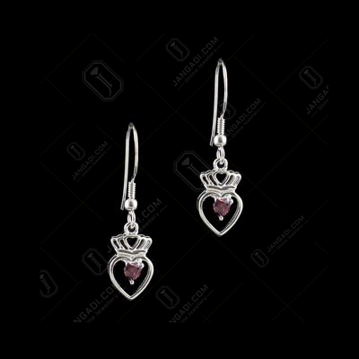 RED SWAROVSKI HANGING EARRINGS