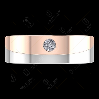 STERLING SILVER ROSEGOLD PLATED MALE COUPLE RING