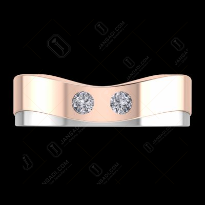 STERLING SILVER ROSEGOLD PLATED FEMALE COUPLE RING