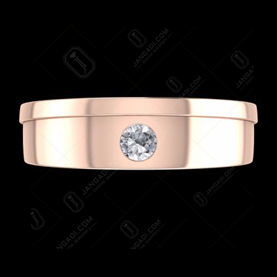 ROSE GOLD PLATED MALE COUPLE RING